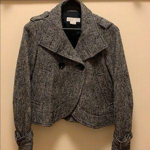 Michael Kors herringbone tweed blazer